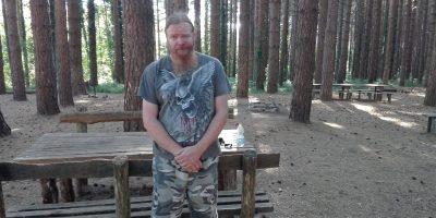 poet in the woods
